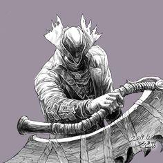 Bloodborne Art, Fantasy Characters, Game Art, Dark Souls, Drawings, Soul Game, Video Game Art, Art, Drawing Inspiration