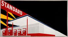 Ed Ruscha, 'Standard Station, Amarillo, Texas' (1963). Oil on canvas. Hood Museum of Art, Dartmouth College, Hanover, NH.