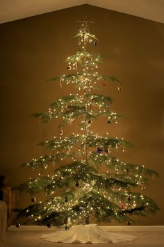 "The perfect ""charlie brown"" style tree.  I will have this one year :)"