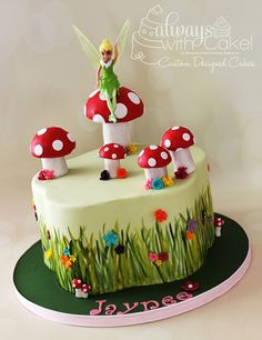 Fairy Garden Cake by Always with cake! - For all your cake decorating supplies, please visit http://www.craftcompany.co.uk/