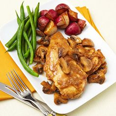 Chicken Marsala #recipe with only 500 calories