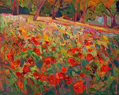 Poppies - Contemporary Impressionism Art Gallery in San Diego - Modern Landscape Oil Paintings for Sale by Erin Hanson
