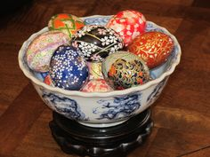Handmade Japanese washi paper eggs -- not just for Easter anymore!