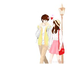 enakei ♥ Cartoon Love Photo, Love Cartoon Couple, Anime Love Couple, Cute Anime Couples, Cute Couple Drawings, Cute Couple Art, Love Wallpapers Romantic, Cute Love Images, Girly M