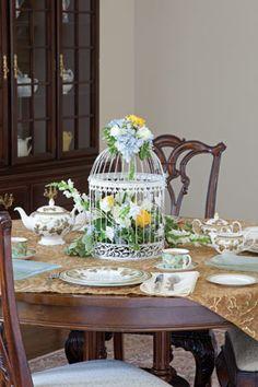 Ornate Birdcage Centerpiece | Tea