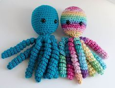 A fun and easy free crochet octopus pattern for babies, preemies, or anyone else who enjoys them!