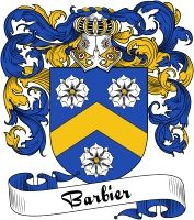 Barbier Coat of Arms  Barbier Family Crest   VIEW OUR FRENCH COAT OF ARMS / FRENCH FAMILY CREST PRODUCTS HERE
