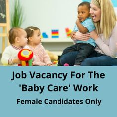 Need 12th pass female candidates only for the ''Baby Care'' job vacancy. The work location in Thane. The post Job vacancy for the 'Baby Care' work appeared first on Jobs and Auditions. Care Jobs, Part Time Jobs, Baby Care, Female, Children, Young Children, Boys, Kids, Child