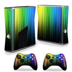 Protective Vinyl Skin Decal Cover for Microsoft Xbox 360 S Slim + 2 Controller Skins Sticker Skins Rainbow Streaks $14.99 Your #1 Source for Video Games, Consoles & Accessories! Multicitygames.com