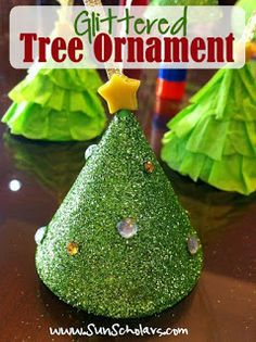 Sun Scholars: Glittered Tree Ornaments