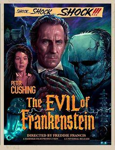 Hammer Movie, Hammer Horror Films, Hammer Films, Classic Disney Movies, Classic Horror Movies, Classic Films, Horror Movie Posters, Movie Poster Art, Film Posters