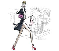portfolio à Paris illustration Illustration Parisienne, Paris Illustration, Planner Organization, Organizer Planner, My Little Paris, I Love Fashion, Fashion Design, Paris Art, Models