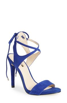 GUESS 'Christa' Crisscross Ankle Strap Sandal (Women) available at #Nordstrom