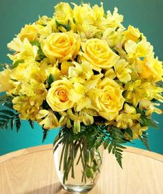 The 167 best yellow flowers images on pinterest yellow wedding yellow flowers in vase via carols country sunshine mightylinksfo