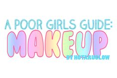 ~ Mini disclaimer: This guide is only about what i know and refers to where i get most of my stuff, I'm a 16 year old girl who likes makeup, not a professional. Also, i'd have loved to have done a bunch of video tutorials myself, but my camera quality is horrible, hopefully sometime in the future i can post an updated guide with more tutorials that are mine