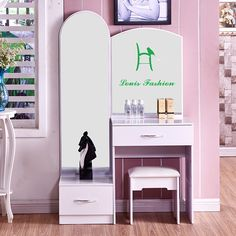 Modern minimalist Princess bedroom dresser plate assembly of large-sized apartment white paint makeup table should mini furnitur