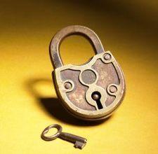 vintage padlock