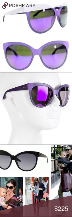 Christian Dior Paname Purple Cat Eye Sunglasses 🕶 💯 Authentic Christian Dior Purple Grey Mirrored Oversized Cat Eye Sunglasses NWT!! The Paname is chic, sharp and modern and has been worn by many a celeb including Beyonce & Gwen Stephani.  These beautiful sunnies come with a brand  new travel case & cleaning cloth.🤗💜🕶 Dior Accessories Sunglasses