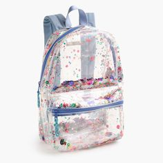 J.Crew - Girls' clear sequin backpack