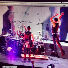 Dave Gahan in the air with Depeche Mode, photo by Daniel Barassi