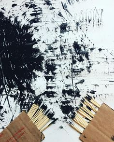 "Tt is for Toothpick ""Mark Making"" Process Art (from Happy Toddler Playtime via Instagram: https://www.instagram.com/p/BL3dmVCDMqP/?taken-by=happytoddlerplaytime)"