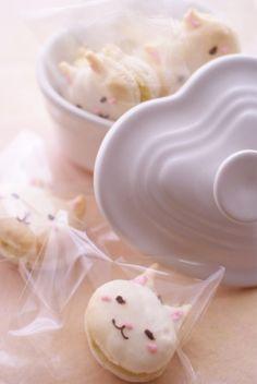 Cat macaron. にゃんこまかろんのレシピ | キッチン | パンとお菓子のレシピポータル