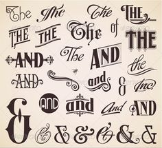 Ornate Hand Letters Thes and Ands - Get it here