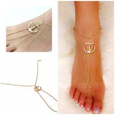 Golden Anchor Anklet   (1 Anklet)