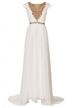 Grecian style Marchesa Silk Chiffon Grecian dress