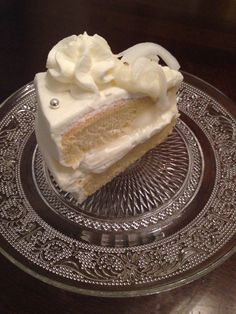 Coconut whipped cream cake
