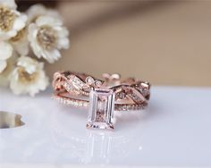 Hey, I found this really awesome Etsy listing at https://www.etsy.com/listing/221157651/emerald-cut-solid-14k-rose-gold