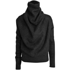 Acne Vendome draped mohair knit sweater ($345) ❤ liked on Polyvore featuring tops, sweaters, black, black mohair sweater, knit sweater, black sweater, drape top и black drape top