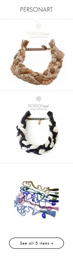 """""""PERSONART"""" by harikleiatsirka ❤ liked on Polyvore featuring jewelry, necklaces, wooden jewelry, daisy jewelry, wood necklace, daisy jewellery and wooden necklaces"""