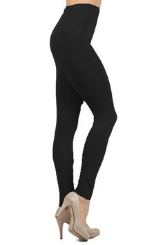 If you need the perfect comfy and warm legging for this up and coming season then our 3/4 Rise Thick Fleece Lined Leggings are the leggings for you. These winter leggings are ideal to keep you warm when the wind blows a little cooler and the air is a little less inviting. Theses wonderful leggings feature a 3/4 mid ride waist keeping them at the perfect height to pair with your favorite sweater or casual t shirt. Grab your pair to keep cozy and comfortable all season long.
