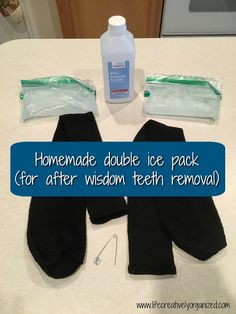 Homemade ice pack (for after wisdom teeth removal) - LIFE, CREATIVELY ORGANIZED