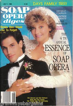 Soap Opera Digest July 1 1986 Beth Maitland Don Diamont Bill Hayes #soaps #soapoperadigest on ebay www.grammysbargains.com