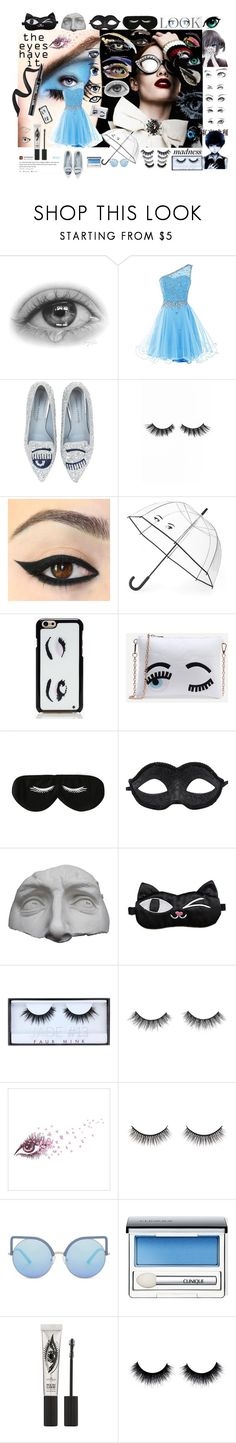 """Eye Spy Nonsense [READ DESC]"" by stormwlf ❤ liked on Polyvore featuring GE, Chiara Ferragni, Violet Voss, Kate Spade, BaubleBar, Romanelli, Huda Beauty, Battington, Matthew Williamson and Clinique"