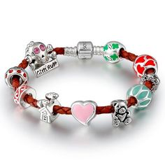 Soufeel Halloween theme skull birthstone mixed charm beads sterling silver bracelet Soufeel. $69.99. Soufeel are adding new designs all the time. Comes with a free and beautiful Gift Box. The lock of the leather bracelet is openable. The leather bracelet is soft and fadeless. Unthreaded European story bracelet design