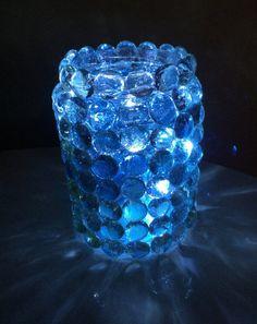 Prism jar Light LED night light luninary by AmericanaGloriana