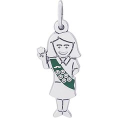 Rembrandt Girl Scout Charm Sterling Silver >>> More info could be found at the image url.
