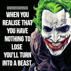 No surrender. No white flag. No kiss kiss and tell me you are helping. Joker Qoutes, Best Joker Quotes, Badass Quotes, True Quotes, Great Quotes, Inspirational Quotes, Devil Quotes, Psycho Quotes, King Quotes
