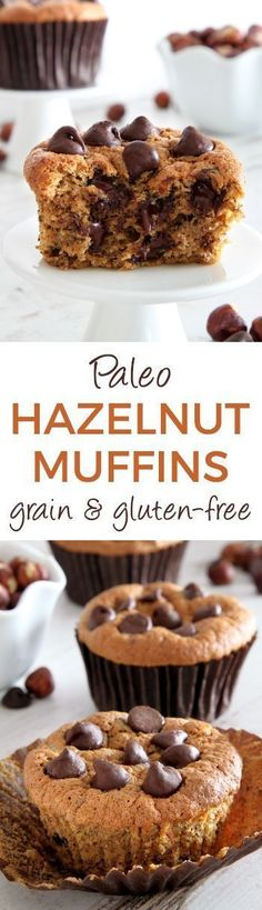 Paleo Hazelnut Muffins are perfect! These Paleo Hazelnut Muffins have a great texture! They are grain-free, gluten-free, and dairy-free. These nutty tasting breakfast muffins are delicious with just the right amount of chocolate chips. Come try this homemade recipe for paleo muffins yourself! #paleo #muffins #glutenfree #homemade #recipe #breakfast