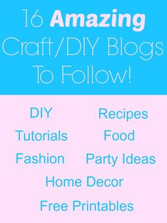 16 AMAZING Craft/DIY Blogs to Follow