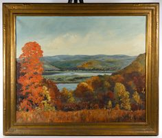 Lot 219: Harry Martin Book (American, 1904-1971) Oil on Canvas; 1942, signed lower right, depicting a autumn landscape