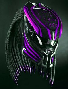 Here we sell several helmets that have been modified / specifically designed to be character helmets, and these helmets already have certificates or DOT And ECE standards. Making process - The process of making a predator helmet require. Motorcycle Events, Custom Motorcycle Helmets, Custom Helmets, Women Motorcycle, Racing Helmets, Custom Bikes, Cyberpunk, Predator Helmet, Predator Alien