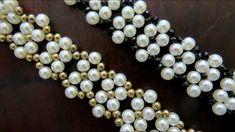 Como Fazer Bijuterias - Bracelete Pérolas e Cristais !