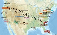 The Slavic Inferno - map of the USA's tv shows