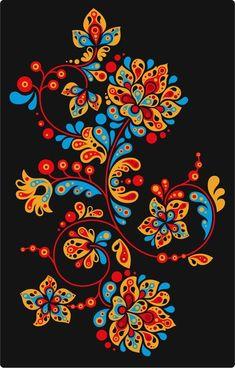 Russian folk art flowers