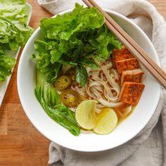 process. How To Make Pho, Homemade Vegetable Broth, Marinated Tofu, Asian Recipes, Ethnic Recipes, Fresh Ginger, Perfect Food, Fresh Herbs, Food Print