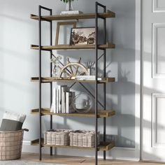 Shop a great selection of Swindell Etagere Bookcase Williston Forge. Find new offer and Similar products for Swindell Etagere Bookcase Williston Forge. Wood Shelves, Glass Shelves, Floating Shelves, Shelving, Floating Wall, Rustic Shelves, Cube Bookcase, Etagere Bookcase, Ladder Bookcase
